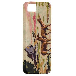 För hjortvinter för vintage PBN fodral för iPhone iPhone 5 Hud