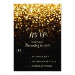 För Hollywood för guld svart bröllop OSA för Glam Inbjudningar