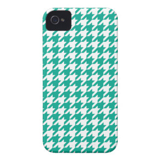 För Houndstooth för smaragd grönt fodral iPhone Case-Mate iPhone 4 Fodral