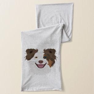 För hundansikte för illustration lycklig Collie Halsduk bb07a0011e0bc