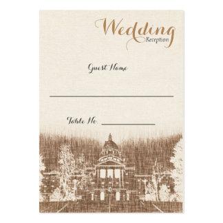 För huvudstadpride för vintage statligt kort för set av breda visitkort