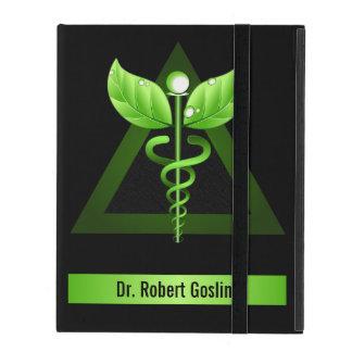 För iCaseiPad för grön Caduceus Holistic vård- iPad Fodral