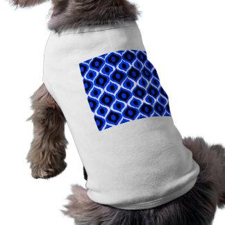 För Ikat för blått Retro geometriskt mönster stam- Långärmad Hundtöja