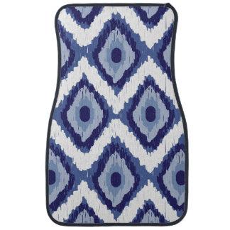 För Ikat för indigoblå blått stam- sparre för vit Bilmatta