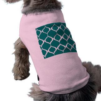 För Ikat för kricka Retro geometriskt mönster Djur Tshirt