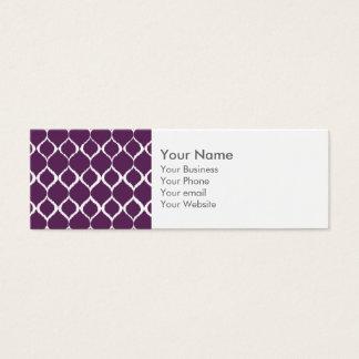 För Ikat för plommon purpurfärgat geometriskt Litet Visitkort