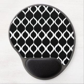 För Ikat för svart vit geometriskt mönster stam- Gel Musmatta