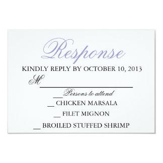 För inbjudansvar för elegant bröllop modernt kort 8,9 x 12,7 cm inbjudningskort