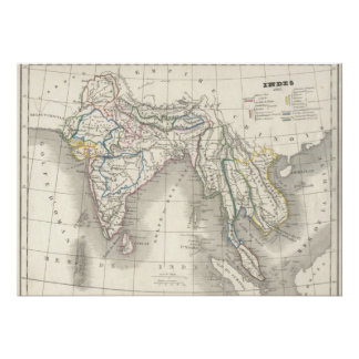 För Indien för gammal värld för vintage coola för  Affischer