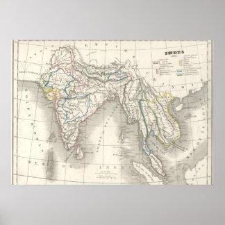 För Indien för gammal värld för vintage coola för  Poster