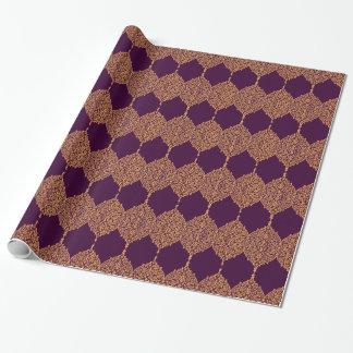 För Indien för vintage purpurfärgat guld- indiskt Presentpapper