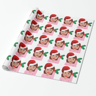 för informationsflicka om julafton emoji presentpapper