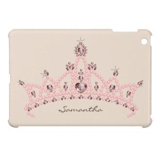 För iPadkortkort för Princess Tiara Rhinestone Krö iPad Mini Mobil Skydd