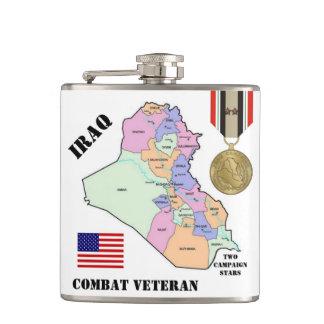 FÖR IRAK FÖR TVÅ KAMPANJSTJÄRNOR FLASKA VETERAN