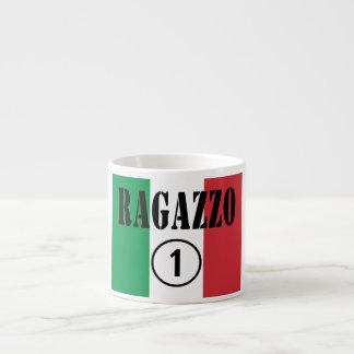 För italienska pojkvänner: Ragazzo Numero Uno. Espressomugg