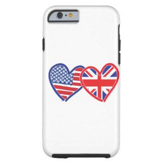 För jackflagga för amerikanska flaggan fackliga tough iPhone 6 skal