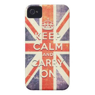 För jackflagga för vintage bär facklig lugn för be iPhone 4 Case-Mate fodraler