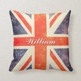 För jackflagga för vintage facklig personlig kudde