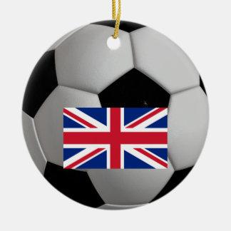 För jackfotboll för brittisk flagga facklig julgransprydnad keramik