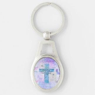 För jag bildade dig i bibeln för den sköteJeremiah Ovalt Silverfärgad Nyckelring