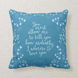 För Jane Austen pride och blom- Prydnadskuddar
