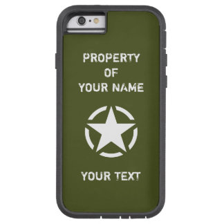 För Jeepfordon för vintage militär stjärna Tough Xtreme iPhone 6 Fodral