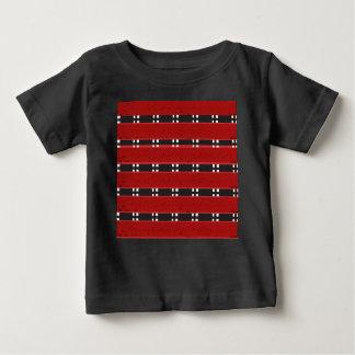 För Jersey för baby fina PUBAR T-tröja RED/BLACK T Shirt