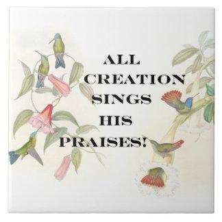 För Jesus för trogen gud Kristus kristen troende Kakelplatta