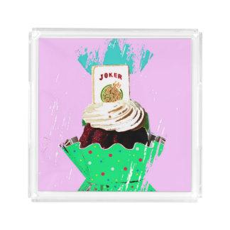 För Jokermuffin för Mah Jongg magasin Bricka