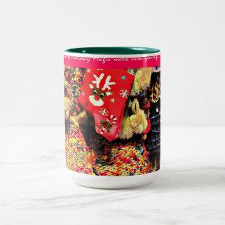 För julbootyer för helgdag magisk mugg