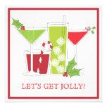 För julcocktailparty för järnek Jolly inbjudan