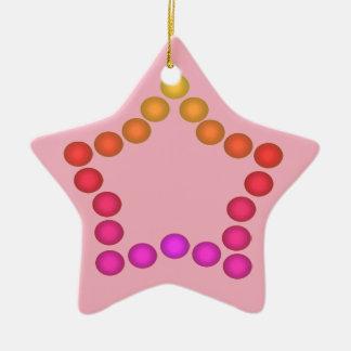 För juldekor för lyckliga gelékarameller gulliga julgransprydnad keramik