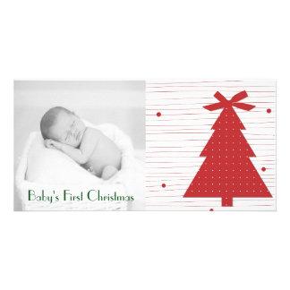 För julfoto för anpassade första kort