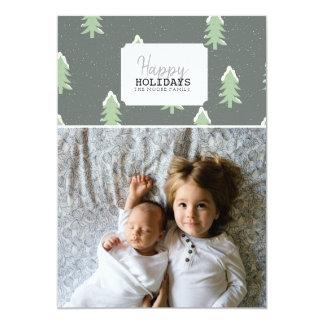 För julgranfoto för glad helg   kort 12,7 x 17,8 cm inbjudningskort