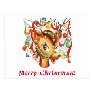 För julren för vintage Retro konfettiar Vykort