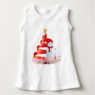 För julsnögubbe för baby Sleeveless klänning T-shirt