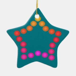 För julstjärna för lyckliga gelékarameller gulliga julgransprydnad keramik