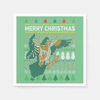 För jultröja för anka ful serie för djurliv papper servett