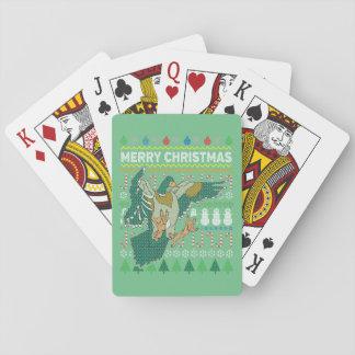 För jultröja för anka ful serie för djurliv spel kort