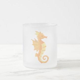 För kaffeTea för Seahorse frostad mugg 10 uns