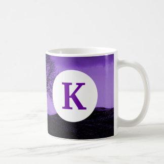 För kaffeträd för Monogram anpassningsbar Kaffemugg
