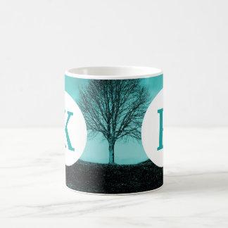 För kaffeträd för Monogram anpassningsbar Vit Mugg