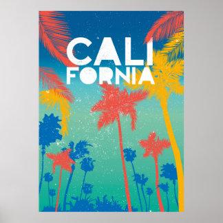 För Kalifornien för strandsommartema konst affisch Poster