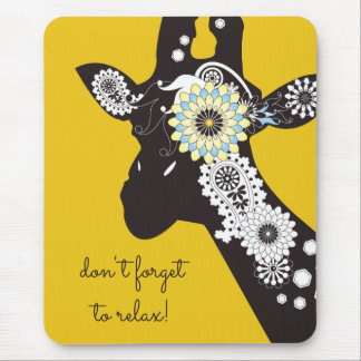 För kall gult för djur Paisley för funky giraff Musmatta