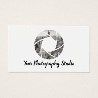 För kamerafoto för fotograf beställnings- visitkort