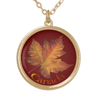 För Kanada för Kanada souvenirhalsband lönnlöv Guldpläterat Halsband