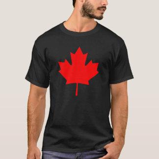 För Kanada för redigerbar bakgrund röd souvenir Tee Shirt