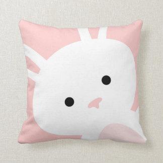 För kaninbarnkammare för baby rosa dekorativ kudde
