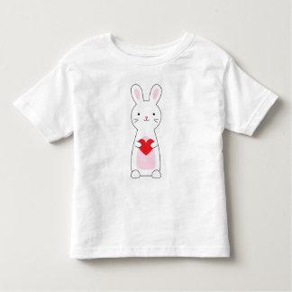 För kaninvalentin för ungar gullig skjorta tee