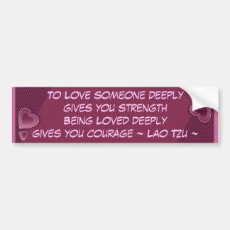 För kärlek bildekal djupt